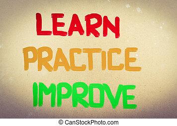 實踐, 概念, 學習, 改進