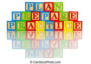 實踐, 計劃, 準備