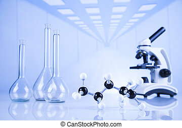 實驗室, 化學制品, 科學, 設備