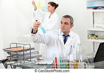 實驗室, 工作