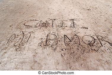 寫, 在沙子中