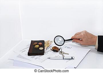 寫, 文件, 稅, 鋼筆, 人