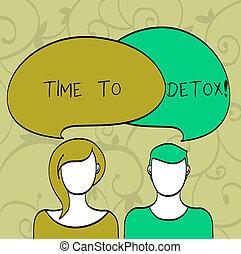 寫, 筆記, showingtime, 到, detox., 事務, 相片, showcasing, 片刻, 為, 飲食, 營養, 健康, 癮, 治療, cleanse.