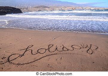 寫, 詞, 沙子