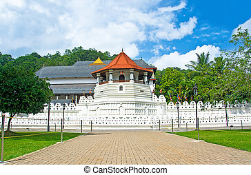 寺廟, ......的, the, 神聖, 牙齒, 遺物