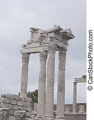 寺院, アーチ, 大理石, 台無しにされる