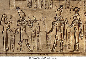 寺院, エジプト, パイロン, edfu, 救助