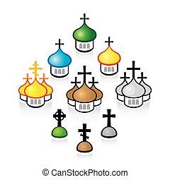 寺院, キリスト教徒, structures., 正統, churches., 建築である, 宗教
