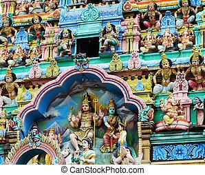 寺院, シンガポール, chinatown, mariamman, sri