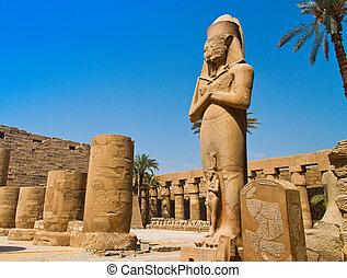 寺院, ルクソール, まだ, karnak, エジプト