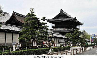寺院, 中に, 京都, japan.