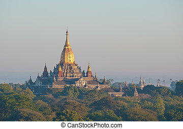寺院, 古代, bagan, ミャンマー, ananda
