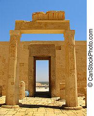 寺院, 女王, 驚くばかり, 女王, (ancient, thebes), hatshepsut, ルクソール, ∥間に∥, egypt., 谷, 国王, bc), (1508-1458