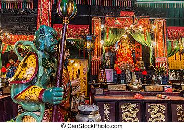 寺院, 神社, tsui, kowloon, 錫, sha, tsim, hau, 香港