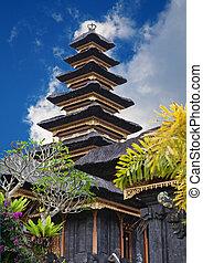 寺院, besakih, 母