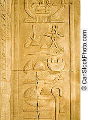 寺院, hieroglyp, kom ombo