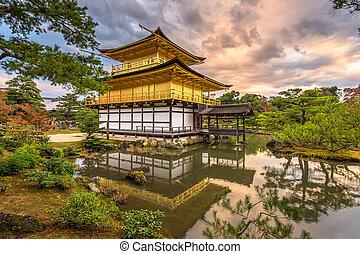 寺院, kinkakuji, 京都, 日本
