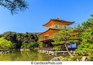 寺院, kinkakuji, 寺院, 金