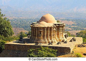 寺院, kumbhalgarh, jain, 城砦