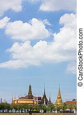 寺院, phra, kaew, タイ, 仏, ワット, バンコク, エメラルド