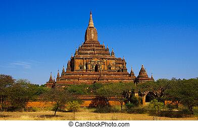 寺院, sulamani, ミャンマー, bagan