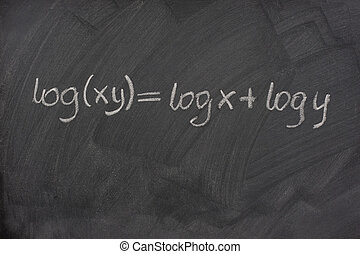 対数, 黒板, 学校, 方式