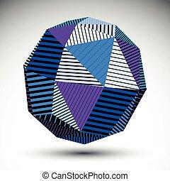 対称的, 球形, 3d, ベクトル, 技術の 実例, 飽和させられた