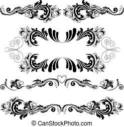 対称的, 2, セット, 装飾