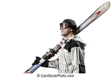 対, スキーをする, 保有物, スキーヤー