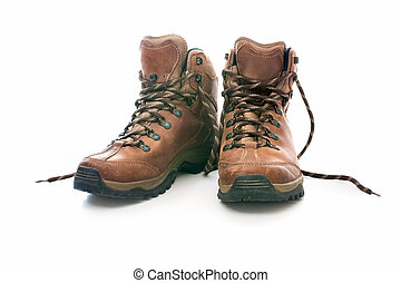 対, ブーツの ハイキング