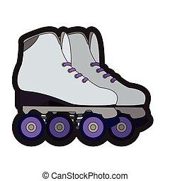 対, ローラー スケート