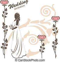 対, 招待, 結婚式