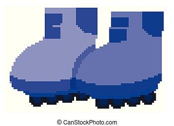 対, 色, 青, 隔離された, rollerskates