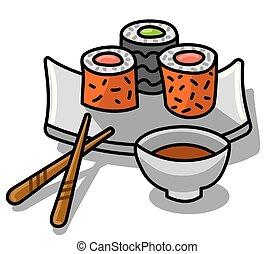 寿司, ソース