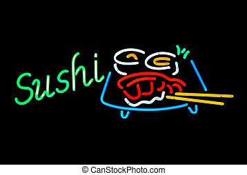 寿司, ネオン 印