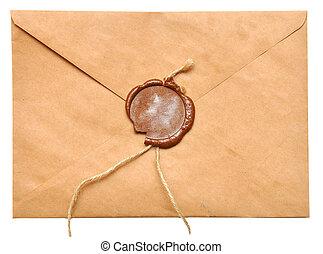 封をされた, 封筒