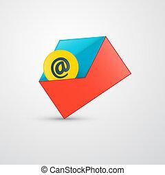 封筒, ベクトル, -, 電子メール, アイコン