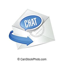 封筒, メール, デザイン, チャット, イラスト