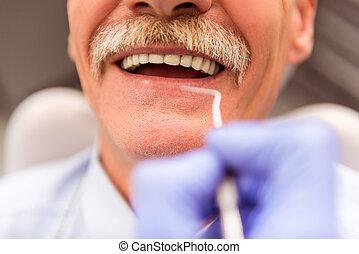 専門家, オフィス, 歯科医