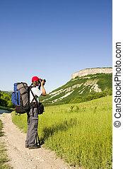 専門家, カメラマン, 山