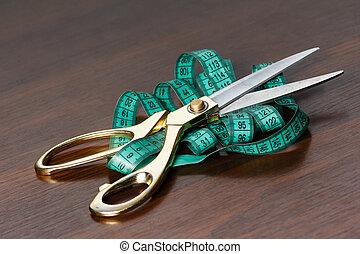 専門家, 切断, 裁縫, 道具, tailor's