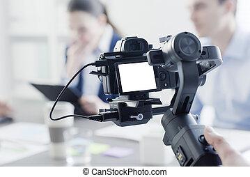 専門家, 射撃, ビデオ, videomaker