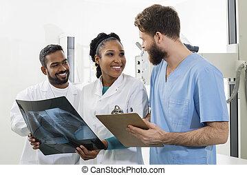 専門家, 病院, 胸, クリップボード, 医学の x 線