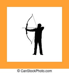 射手, 矢, 弓