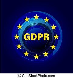 将官, 規則, 保護, データ, gdpr