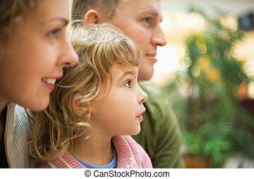 将来を考える, 女の子, 家族