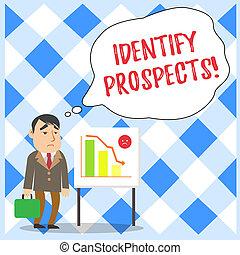 将来, 概念, テキスト, 顧客, 識別しなさい, 地位, prospects., 報告書, 執筆, 理想, ドナー, ビジネス, 事務員, 可能, 単語, 低下, 場合, バー, whiteboard, chart., クライアント, ビジネスマン