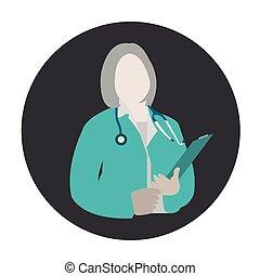 專家, 婦女醫生, 醫學, avatar, 健康, avatar, 圖象