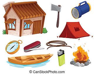對象, 各種各樣, 露營