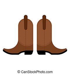 對, ......的, 牛仔靴